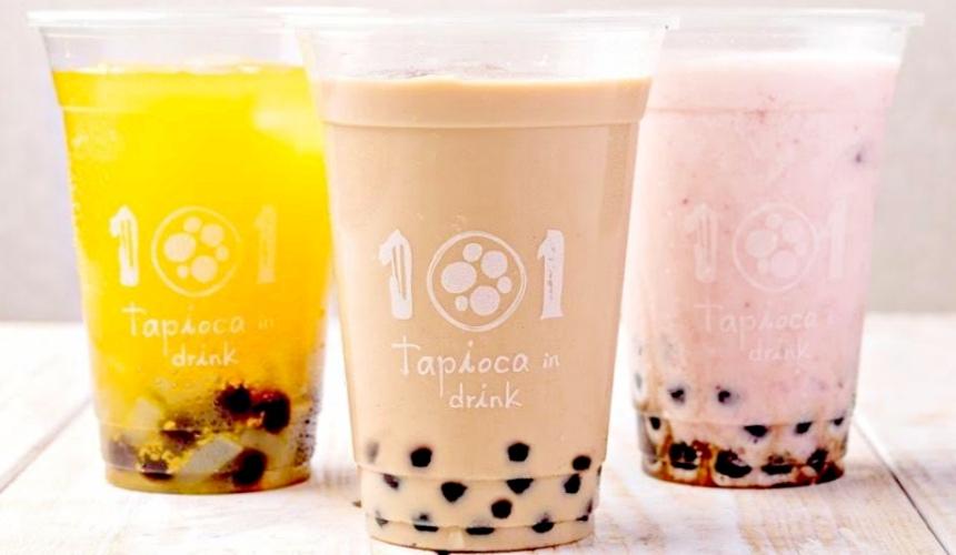 大阪市心斋桥可直达的超好逛「MITSUI OUTLET PARK 大阪鹤见」内的美食街开设了「101 tapioca」可以喝到各种口味的珍珠奶茶
