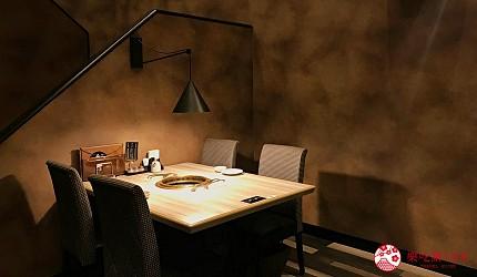 大阪心齋橋頂級和牛燒肉「黑毛和牛燒肉一」的二樓用餐區