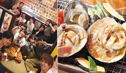 奈良用餐推荐近铁奈良站1分钟「NALALA 美食天地」的店家「滨烧太郎 近铁奈良店」的海鲜大餐