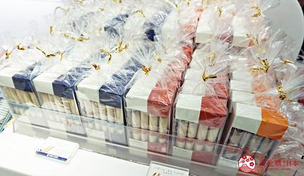 大阪高島屋內有售的YOKU MOKU便攜裝雪茄蛋捲