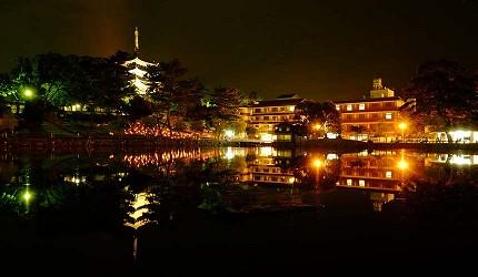 奈良景點推薦奈良八景興福寺五重塔與猿池
