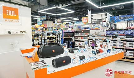 大阪難波推薦家電商場「愛電王」3樓音響、耳機、拍立得樓層一景