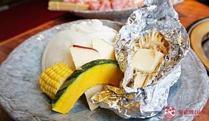 大阪道頓堀「はや・しゃぶ兆」燒肉、涮涮鍋吃到飽蔬菜拼盤