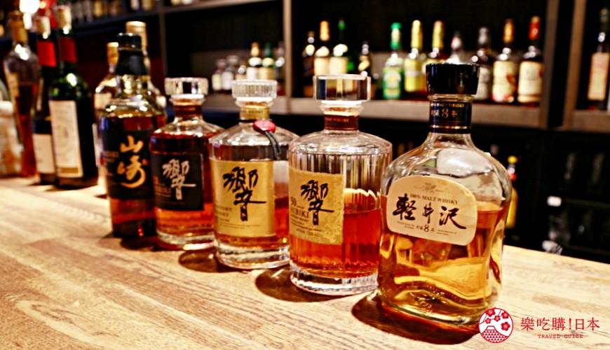 京都威士忌名酒推荐店家「酒的美术馆三条乌丸本店」贩售的「响30年」、「轻井泽8年」