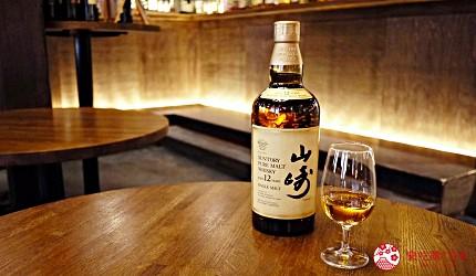 京都威士忌名酒店家「酒的美術館三條烏丸本店」販售的威士忌經典「山崎12年」