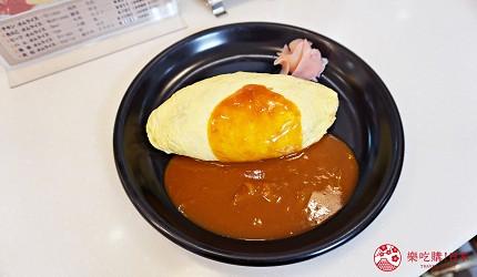 大阪高島屋b1層的蛋包飯專門北極星內的金黃蛋包飯