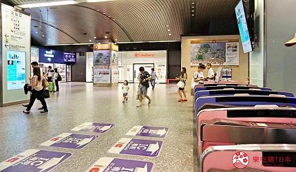 與南海空港線「南海難波站」內有難波高島屋的連接出口