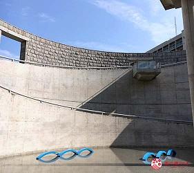 关西自由行「淡路岛」环岛一日游行程推荐景点「淡路梦舞台」的圆形广场