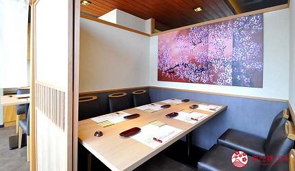 大阪心齋橋推薦高級壽司店「寿司割烹 いぶき」的包廂座位