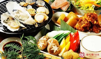 大阪难波海鲜大餐店家推荐「知床渔场 道顿堀店」其他吃到饱套餐