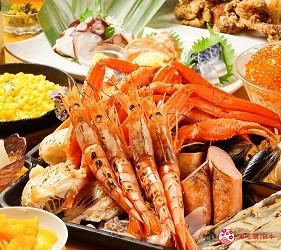大阪难波海鲜大餐店家推荐「知床渔场 道顿堀店」的BBQ铁板海鲜