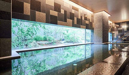 京都旅遊市區住宿推薦「京都 Ublhotel」的碳酸泉大浴池
