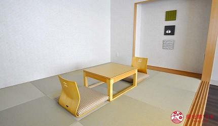 京都旅遊市區住宿推薦「京都 Ublhotel」的榻榻米