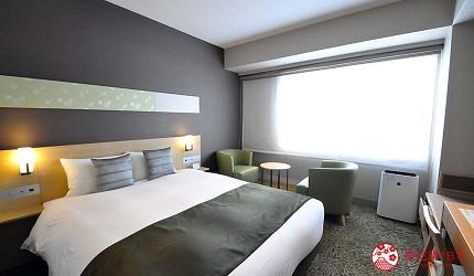 京都旅遊市區住宿推薦「京都 Ublhotel」的基本雙人房型(Double room)