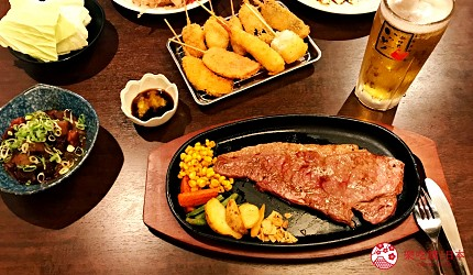 大阪难波必吃串炸名店「新世界串炸 ITTOKU」店内餐点