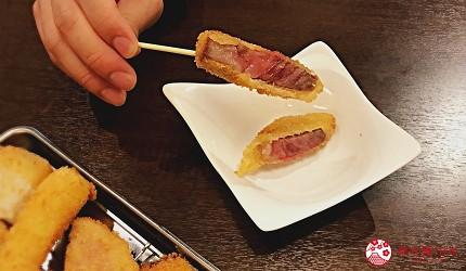 大阪难波必吃串炸名店「新世界串炸 ITTOKU」的A5和牛串炸