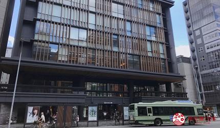 京都乌丸串烧居酒屋推荐「丸庄商店」所在的 SUINA 室町商业大楼的外观