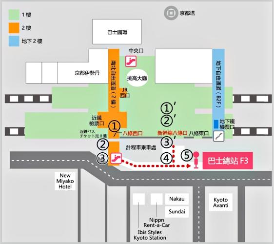 关西京都近郊最大级「三井 OUTLET PARK 滋贺龙王」交通方式京都八条西口公车站上车图