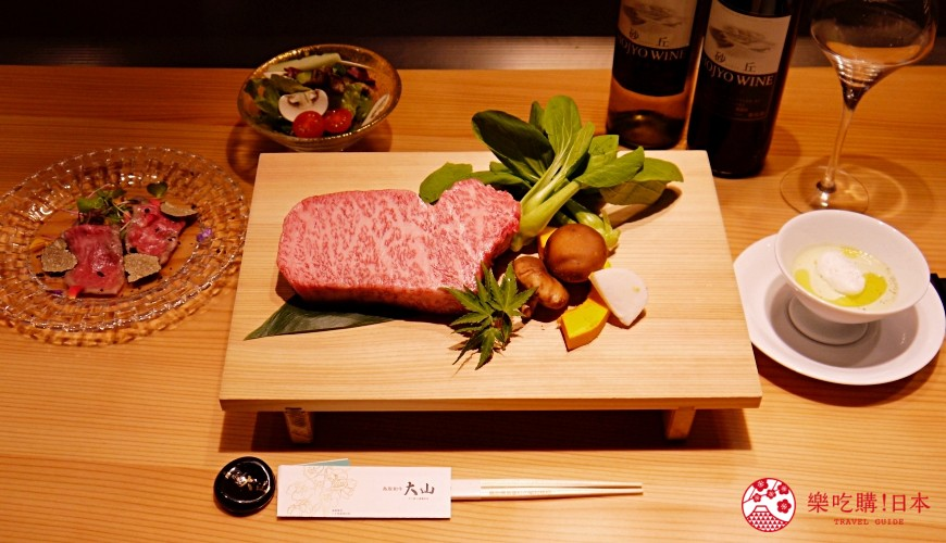 大阪心斋桥和牛铁板烧店「鸟取和牛 大山不二家」的「超豪华鸟取海陆和牛套餐」内容