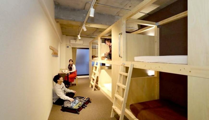 日本大阪的平價住宿酒店推介推薦THE STAY OSAKA 心齋橋可住6人的上下舖房型