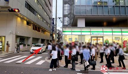 大阪梅田必吃推薦和牛「牛肉專門 豐後牛肉店」的交通方式步驟四