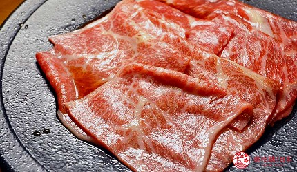 大阪梅田必吃推薦和牛「牛肉專門 豐後牛肉店」的「大分豐後和牛套餐」的涮鐵板(焼きしゃぶ)