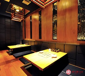 大阪梅田必吃推薦和牛「牛肉專門 豐後牛肉店」的和室座席