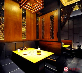 大阪梅田必吃推薦和牛「牛肉專門 豐後牛肉店」的一般座椅區