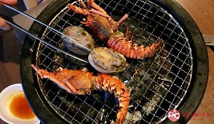 大阪难波牛海鲜吃到饱推荐「牛一筋」的优惠内容,赠送伊势海老、龙虾、鲍鱼三选一