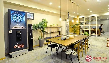 日本大阪的平價住宿酒店推介推薦THE STAY OSAKA 心齋橋館內的經常用作舉辦活動的吧檯用餐區