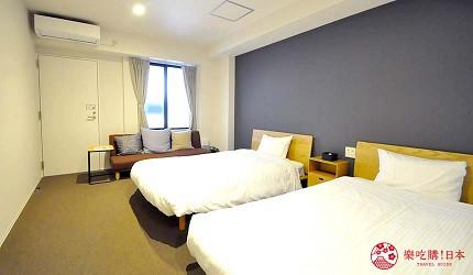 日本大阪的平價住宿酒店推介推薦THE STAY OSAKA 心齋橋館內可住3人的房間