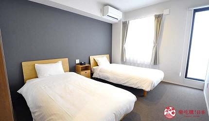 日本大阪的平價住宿酒店推介推薦THE STAY OSAKA 心齋橋館內的雙床房間