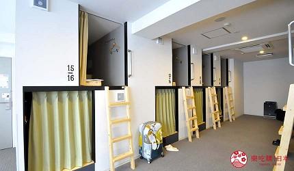 日本大阪的平價住宿酒店推介推薦THE STAY OSAKA 心齋橋的上下舖宿舍房型