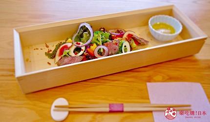 日本「淡路島」環島一日遊景點推薦!餐廳「IKOI Japanese Cuisine」的烤牛肉沙拉