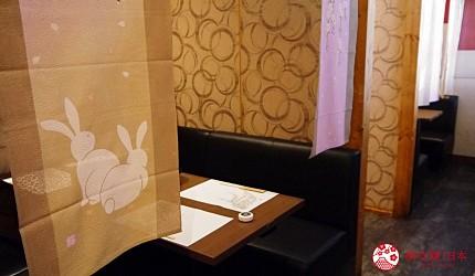 大阪难波牛海鲜吃到饱推荐「牛一筋」的店内半开放包厢座位