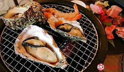 大阪难波牛海鲜吃到饱推荐「牛一筋」的海鲜用烤盘