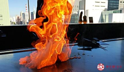 神戶三宮站必吃神戶牛排店「steak house ZEN」的「鮮麗」套餐的神戶牛沙朗牛排鐵板燒