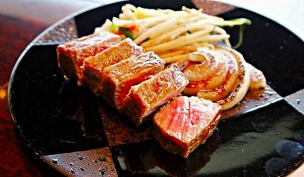 神戶三宮站必吃神戶牛排店「steak house ZEN」的「鮮麗」套餐的神戶牛沙朗牛排