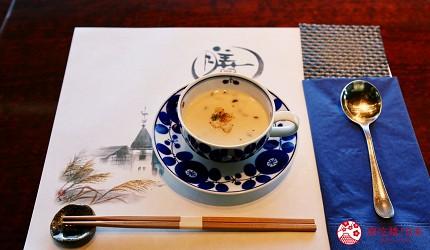 神戶三宮站必吃神戶牛排店「steak house ZEN」的「鮮麗」套餐的本日濃湯