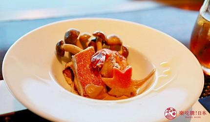 神戶三宮站必吃神戶牛排店「steak house ZEN」的「鮮麗」套餐的鯛魚與鮮蝦
