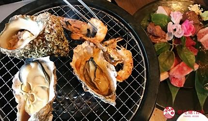 大阪难波牛海鲜吃到饱推荐「牛一筋」的「和牛国产牛生勐海鲜吃到饱」90分钟方案的牡蛎