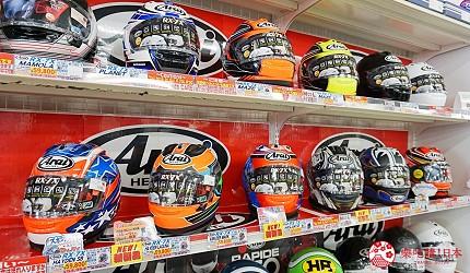 大阪推薦機車部品電單車用品店「Bike World」Arai的人氣安全帽