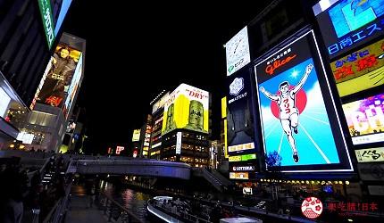 日本自由行大阪交通方便住宿推介karaksa hotel grande 新大阪 Tower唐草飯店所在的大阪心齋橋夜景
