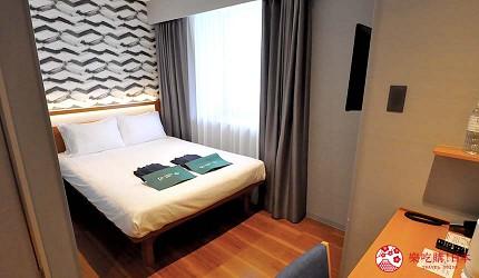 日本自由行大阪交通方便住宿推介karaksa hotel grande 新大阪 Tower唐草飯店標準單幢雙人房內觀