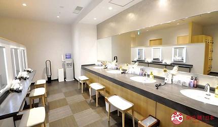 日本自由行大阪交通方便住宿推介karaksa hotel grande 新大阪 Tower唐草飯店的梳妝室