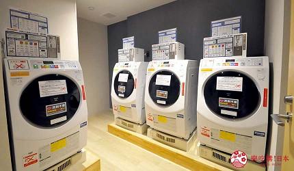 日本自由行大阪交通方便住宿推介karaksa hotel grande 新大阪 Tower唐草飯店的投幣式洗衣機