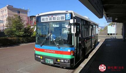 日本關西北海道新潟滑雪自由行滑雪場推薦5選之一的箱館山滑雪場的可以搭的開往綜合運動公園的北巡迴公車