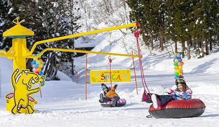 日本關西北海道新潟滑雪自由行滑雪場推薦5選之一的神立滑雪度假村的雪上樂園
