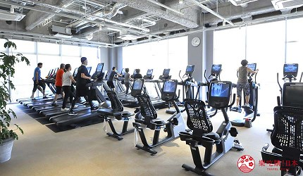 大阪京都溫泉會館推薦「SPA&HOTEL 水春 松井山手店」的二樓休憩區的健身房