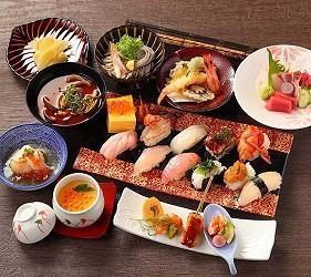 大阪京都溫泉會館推薦「SPA&HOTEL 水春 松井山手店」的奢華壽司套餐